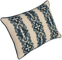 """Luxe Pillows Floral Stripe Embroidery (20"""" x 14"""")"""