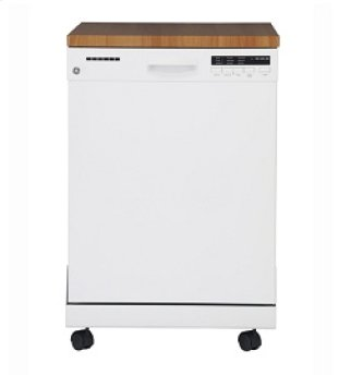 GE Portable Dishwasher with Stainless Steel Tub