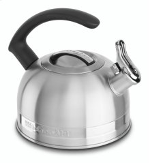 KitchenAid 2.0-Quart Kettle with Full Stainless Steel Handle and Trim Band - Stainless Steel Finish