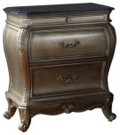 "Roma Antique Silver Night Stand - 30""L x 18""D x 31""H Product Image"