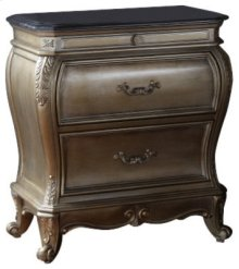 """Roma Antique Silver Night Stand - 30""""L x 18""""D x 31""""H"""