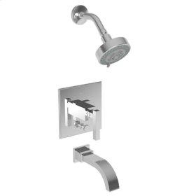Satin-Bronze-PVD Balanced Pressure Tub & Shower Trim Set