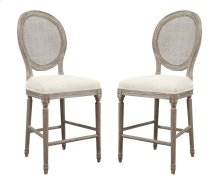 "Emerald Home Salerno Barstool 24"" W/uph Seat-rattan Back-sand Gray/distressed Finish U3693-24-09 (copy)"