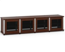 Synergy Solution 247, Quad-Width AV Cabinet, Walnut with Aluminum Posts