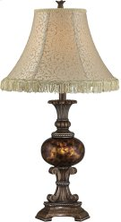 Table Lamp - Ant. Bronze/fabric Shade W.TASSEL, E27 Cfl 23w Product Image