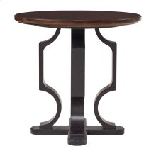 Virage Round Lamp Table in Truffle