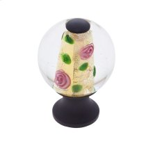 Oil Rubbed Bronze 30 mm Clear Knob w/Yellow