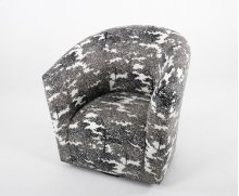 Swivel chair with tight back and seat