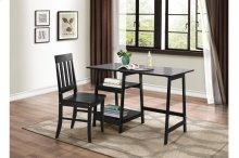Writing Desk and Chair, Black