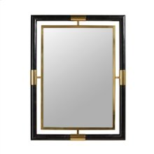 SATINA FINISHED BRASS AND BLAC K PENSHELL INLAID MIRROR