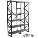 Newhart Rustic Wood and Galvanized Metal Bookshelf Product Image