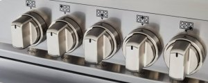 36 inch Dual Fuel Range, 5 Burner, Electric Oven Matt Black
