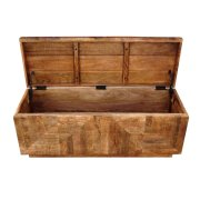 Rustic Natural Storage Bench Product Image