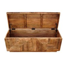 Rustic Natural Storage Bench