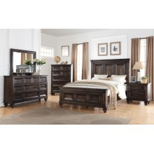 SEVILLA King Bedroom Set: King Bed, Nightstand, Dresser & Mirror
