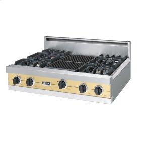 """Golden Mist 36"""" Sealed Burner Rangetop - VGRT (36"""" wide, four burners 12"""" wide char-grill)"""