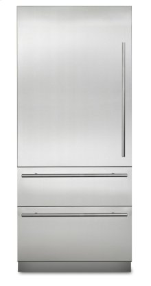 "36"" Virtuoso Fully Integrated Bottom-Freezer Refrigerator, Left Hinge/Right Handle"