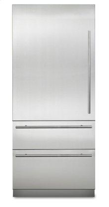 "36"" Virtuoso Fully Integrated Bottom-Freezer Refrigerator, Left Hinge/Right Handle"