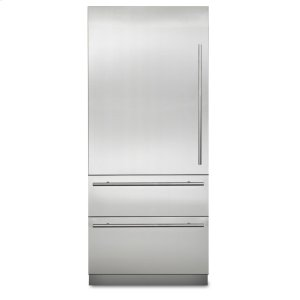 "Viking36"" Virtuoso Fully Integrated Bottom-Freezer Refrigerator, Left Hinge/Right Handle"