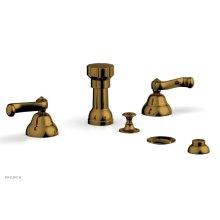 REVERE & SAVANNAH Four Hole Bidet Set D4102 - French Brass