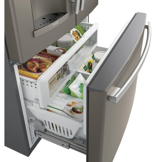GE Profile™ Series ENERGY STAR® 22.2 Cu. Ft. Counter-Depth French-Door Refrigerator with Keurig® K-Cup® Brewing System