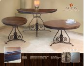 Colima Wood Top / Iron Base Cocktail Table