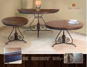 Colima Wood Top / Iron Base Sofa Table