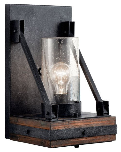 Colerne 1 Light Wall Sconce Auburn Stain