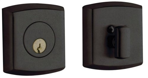Distressed Oil-Rubbed Bronze Soho Deadbolt
