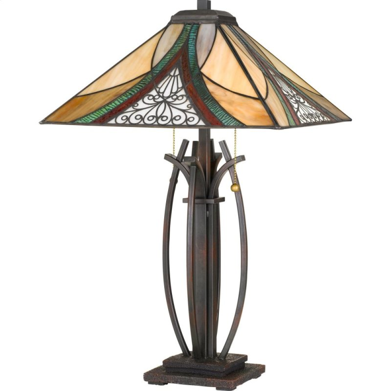 Tf3342tva In By Quoizel In Malone Ny Tiffany Table Lamp In