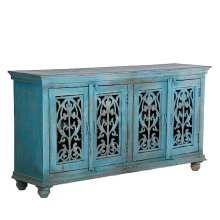 Painted 4 Door W/Iron Sideboard
