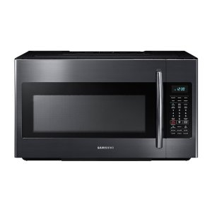 Samsung1.8 cu. ft. Over-the-Range Microwave with Sensor Cooking in Fingerprint Resistant Black Stainless Steel