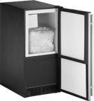 """Stainless Right-hand ADA Series / 15"""" ADA Height Compliant Crescent Ice Maker Product Image"""
