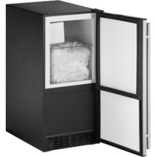"""Stainless Right-hand ADA Series / 15"""" ADA Height Compliant Crescent Ice Maker"""