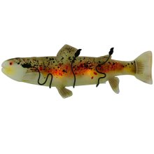 """29.5""""W Metro Fusion Brown Trout Glass Wall Sconce"""