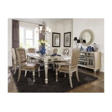 7 Piece Dining Room Set: Table, 4 Side Chairs & 2 Arm Chairs