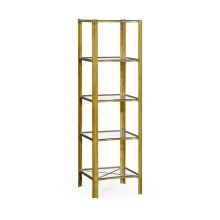 Brass & Glass Five Tier tag re