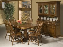 Classic Oak Burnished Rustic Dining Room Furniture