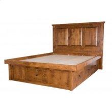 Virginia City Pedestal Bed with Raised Panel Headboard