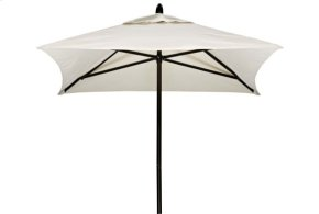 6' Square Powdercoat Aluminum Commercial Market Umbrella