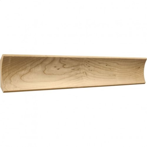 """4"""" x 3/4"""" Cove Moulding, Species: Alder Priced by the linear foot and sold in 8' sticks in carton of 64'."""
