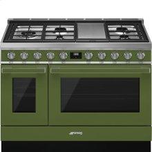 "Portofino Pro-Style Dual Fuel Range, Olive Green, 48"" x 25"""