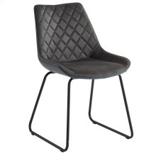 Calvin Side Chair in Charcoal, 2pk