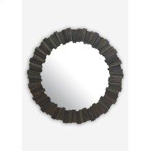 """(LS) 43"""" Pinwheel Wood Mirror In Grey Wash..(43x1.5x43).."""