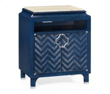 Antique Blue Oak Nightstand
