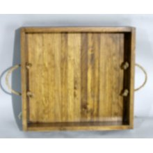 """#585 Plank Tray 18""""wx19.5""""dx3.5""""h"""