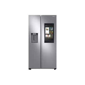 Samsung Appliances22 cu. ft. Counter Depth Side-by-Side Refrigerator with Touch Screen Family Hub™ in Stainless Steel
