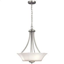 Serina Collection Serina 3 Light Pendant in Brushed Nickel