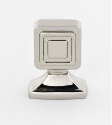 Cube Knob A986-1 - Polished Nickel