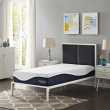 "Caroline 10"" Twin Open Cell and Gel Memory Foam Mattress"